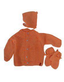 Handmade woolen suit self Orange