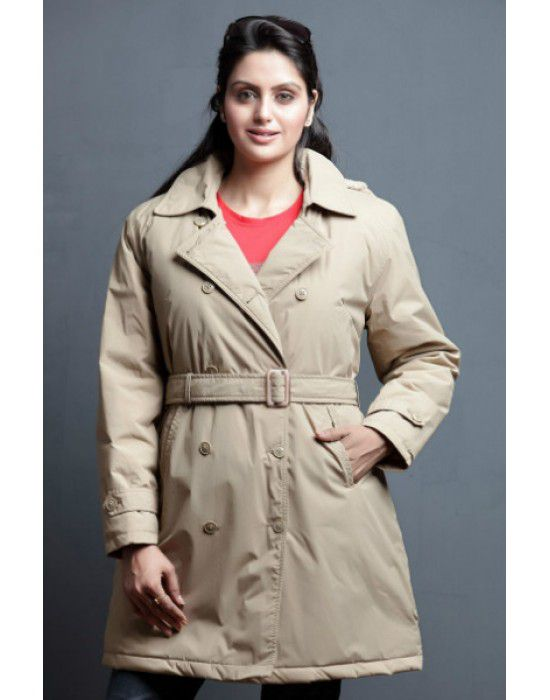 "Ladies OverCoat 35"" Full sleeves Camel"