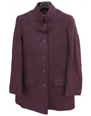 Ladies Wool Coat Brown
