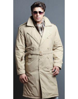Mens Trench Over Coat Full sleeves Mouse