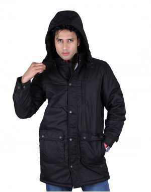 Mens Parka FS Jacket Black Plus Size