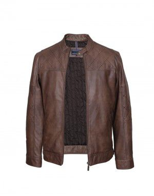 Men Jacket PU Hard crush Wine