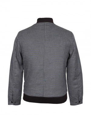 Men Jacket Tweed Navy Check
