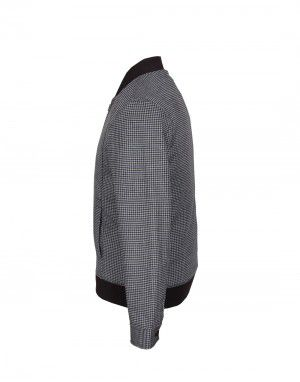 Men Jacket Tweed Grey Check
