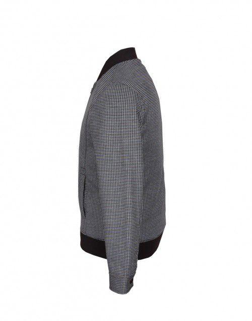 Men Jacket Tweed Navy Check