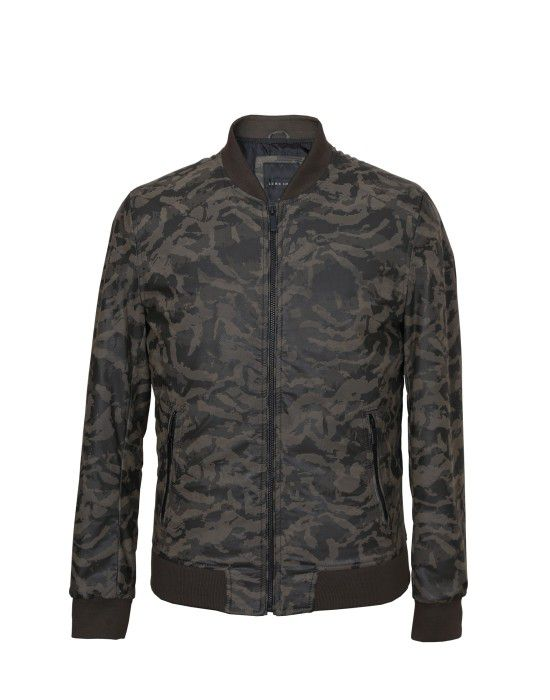 Men Jacket PU Miltery Miltery Green