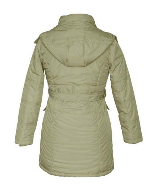 Ladies long Jacket with Belt - Faun