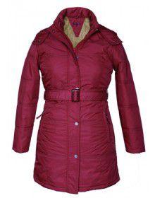 Ladies long Jacket with Belt Violet