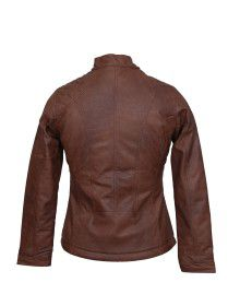 Womens Jacket PU crush Tan
