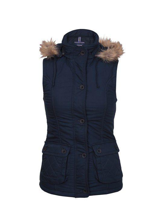 Ladies Sleeveless Jacket Navy