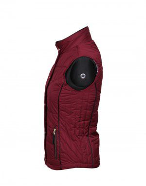 Ladies Sleeveless Jacket Wine