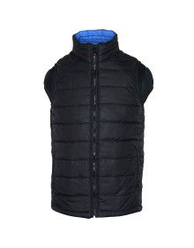 Boys Quilted Jacket Black Reversible