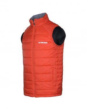 Boys Quilted Jacket Orange Reversible