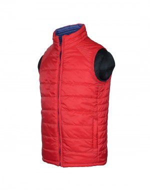 Boys Quilted Jacket Red Reversible