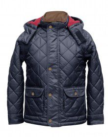 Boys Jacket Navy Basic Quilted