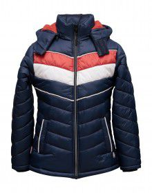 Boys Jacket Spicy Orange Sporty Quilted