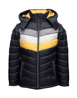 Boys Jacket Spicy Yellow Sporty Quilted