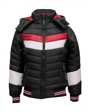 Boys Jacket Black Sporty Quilted