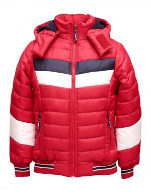 Boys Jacket Red Sporty Quilted