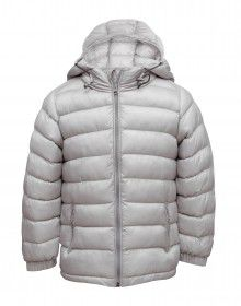 Boys Jacket Grey Basic Quilted
