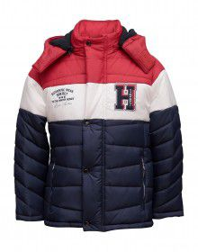 Boys Jacket Red Quilted Sporty