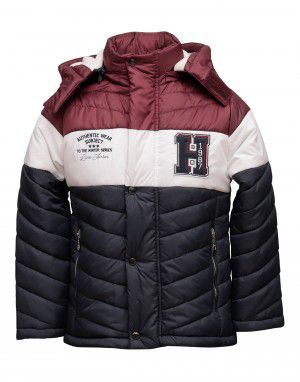 Boys Jacket Wine Sporty Quilted