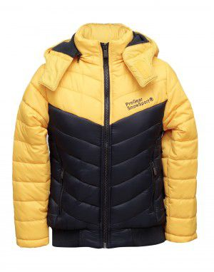 Boys Jacket Yellow Quilted