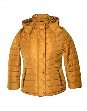 Girls Quilted Jacket Gold