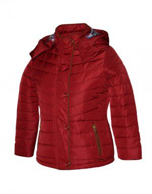 Girls Quilted Jacket Salsa