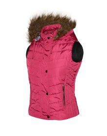 Girls Light weight quilted sporty Jacket Rose