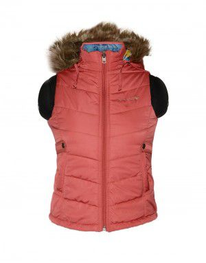 Girls Light weight quilted Jacket Carrot Reversible