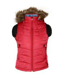 Girls Light weight quilted Jacket Cherry Reversible