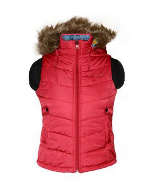 Baby Girl Light wight quilted Jacket Cherry