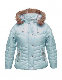 Girls Jacket Sky Quilted