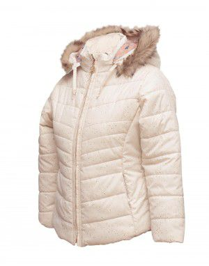 Girls Jacket Ivory Quilted