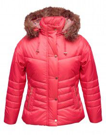 Girls Jacket Hot Pink Quilted
