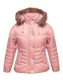 Girls Jacket Baby Pink Quilted