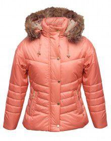 Girls Jacket Coral Quilted