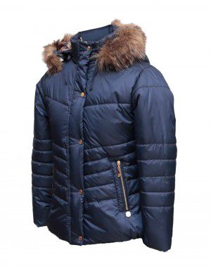 Girls Jacket Navy Quilted