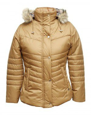 Baby Girls Jacket Tan Quilted