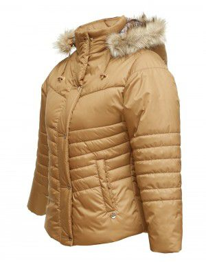 Girls Jacket Spicy Tan Quilted
