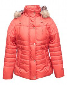 Girls Jacket Spicy Orange Quilted