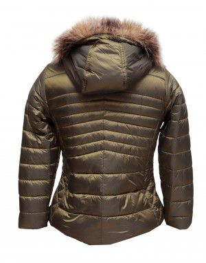 Baby Girls Jacket Olive Quilted