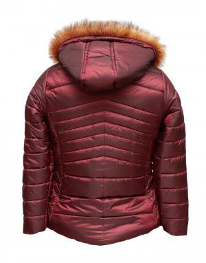 Baby Girls Jacket Wine Quilted
