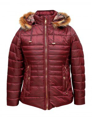 Girls Jacket Wine Quilted