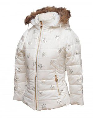 Baby Girl Jacket Cream Quilted