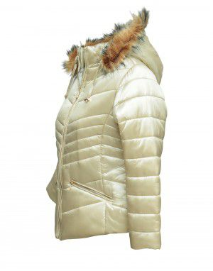 Baby Girls Jacket Pearl Quilted