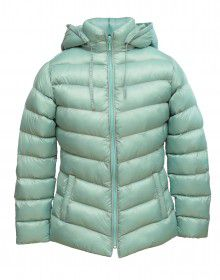 Girls Jacket Aqua Quilted