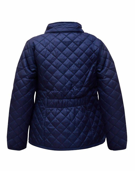 Girls Jacket Quilted Navy