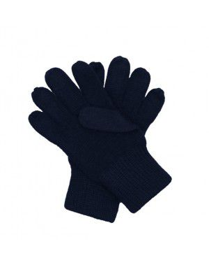 Kids Acrylic Wool Gloves Navy